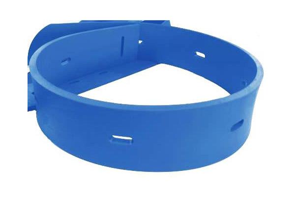 Une bande racleuse bleue
