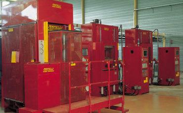 Salle des machines de compression