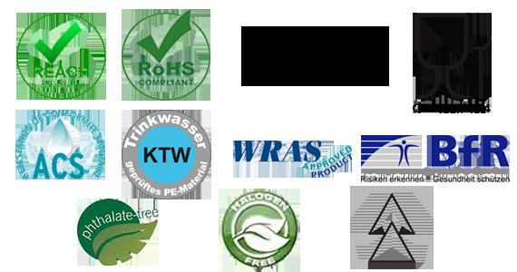 Les certificats pour les normes et législations
