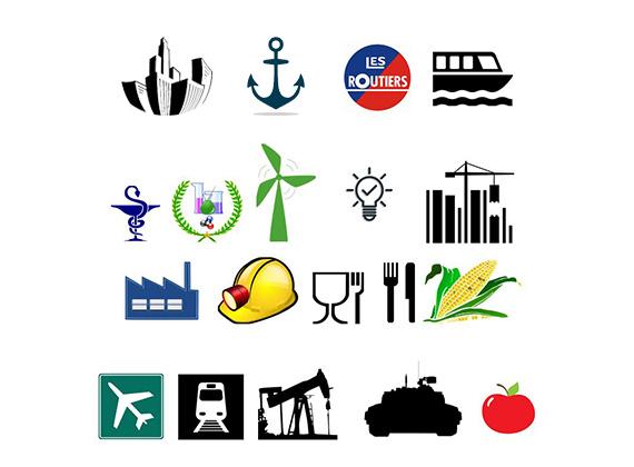 Icones de différents secteurs